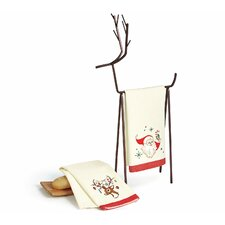 Santa and Reindeer 2 Piece Towel Set