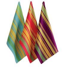 Harvest Market Jardin Stripe Dishtowel (Set of 3)