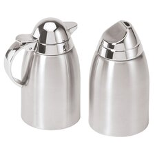 2 Piece Stainless Steel Sugar and Creamer Set