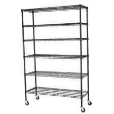 Mobile 5 Shelf Wire Shelving