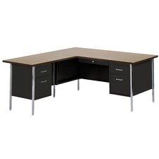 """42"""" W L-Shaped Office Desk"""