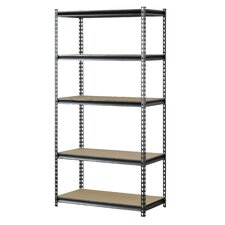 Z-Beam Boltless Steel Partical Board Four Shelf Shelving Unit