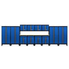 Modular 14-Piece System with Doors Storage Cabinet Set