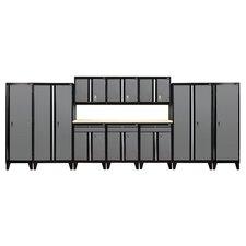 Modular 11-Piece System with Doors Storage Cabinet Set