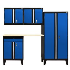 Modular 5-Piece System with Doors Storage Cabinet Set
