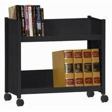 Sloped-Shelf Book Cart