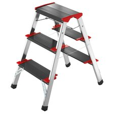 ChampionsLine 3-step Aluminum Step Stool with Class I (Industrial) 175 kg