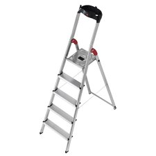 281cm L60 Aluminium Safety Household Ladder with Multifunction Tray