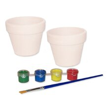 Paint Your Own Flower Pots (Set of 2)