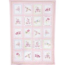 Pink Pagoda Crib Quilt