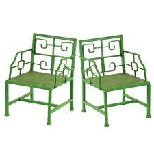 Deco Mini Metal Arm Chair (Set of 2)