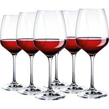 6-tlg. Rotweinglas-Set Celeste