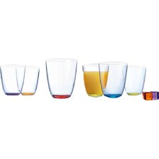 6-tlg. Longdrinkglas-Set Crazy Colours