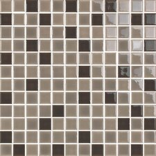 """New Blendz 1"""" x 1"""" Glass Mosaic Tile in Chocolate"""