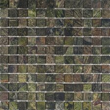 """1"""" x 1"""" Marble Mosaic Tile in Rain Forest Green"""