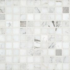 "1"" x 1"" Marble Mosaic Tile in Calacatta"