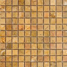 "1"" x 1"" Marble Mosaic Tile in Sahara Gold"