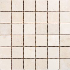 "2"" x 2"" Marble Mosaic Tile in Crema Marfil"