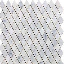 Diamond 12'' x 12'' Marble Mosaic Tile in Italian Venatino