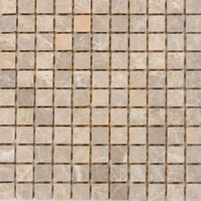 "1"" x 1"" Marble Mosaic Tile in Emperador Light"