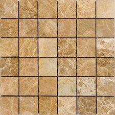 "2"" x 2"" Marble Mosaic Tile in Emperador Light"