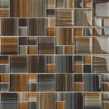 Contempo Jacobs Random Sized Glass Mosaic Tile in Multi
