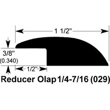 "0.34"" x 1.5"" x 78"" Red Oak Overlap Reducer"