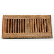 "5.63"" x 11.25"" Red Oak Wood Surface Mount Vent Cover"