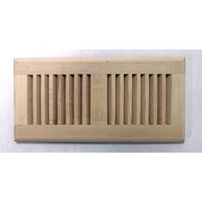 """5.63"""" x 13.5"""" Maple Wood Surface Mount Vent Cover"""