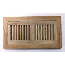 "6.75"" x 12.38"" Red Oak Wood Flush Mount Vent Cover"