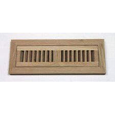 "4.5"" x 12"" White Oak Wood Flush Mount Vent Cover"