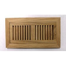 "5.63"" x 11.25"" White Oak Wood Surface Mount Vent Cover"