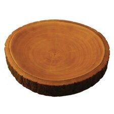 "Mango Wood 2"" Plate with Bark"