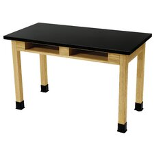 Chem Res Top and Dual Book Compartment Science Lab Table