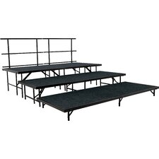 Portable Stage & Seated Riser Set in Carpet