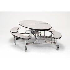 "121"" x 72"" Elliptical Cafeteria Table"