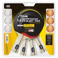 Performance 4 Player Table Tennis Racket Set