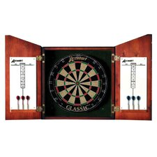 Union Jack Dartboard Cabinet Set