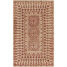 Smithsonian Hand-Tufted Red/Neutral Area Rug