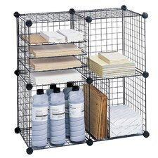 Wire Cube Shelving System Bookcase