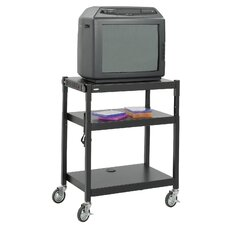 Adjustable Height AV Cart