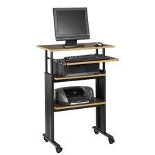 MUV Adjustable Stand-Up Workstation AV Cart