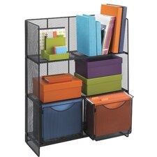 Onyx Fold-Up 3 Shelf Wire Storage Unit Bookcase