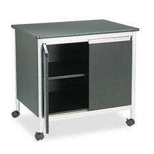 Safco Deluxe Steel Machine Stand 2 Door Credenza