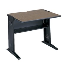 Laminate Adjustable Height Open Front Desk