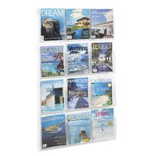"Reveal Clear Literature Displays, 12 Compartments, 49"" High"