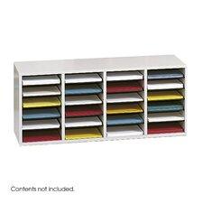 Medium Wood Adjustable-Compartment Literature Organizer