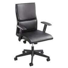 Tuvi Leather Executive Chair Adjustable Arms