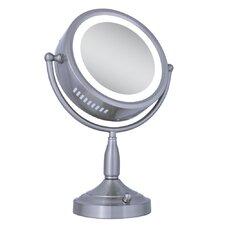 Dual-Sided Lighted Vanity Mirror