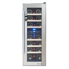 Mirrored 21 Bottle Dual Zone Freestanding Wine Refrigerator